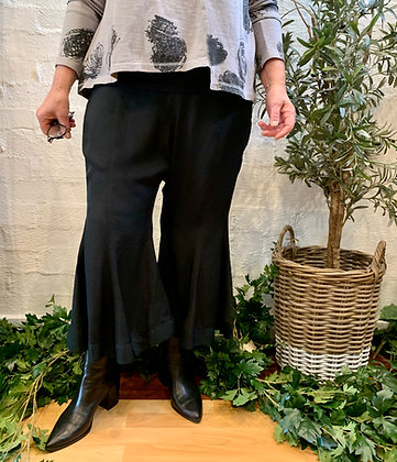 M A Dainty Black Flare Pants