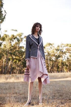 M A Dainty Pink Stripe Skirt