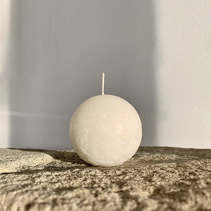 SPHERE CANDLE - WARM WHITE -M (7.5CM)