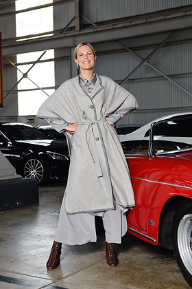 M. A. Dainty Grey Seat Belt Jacket