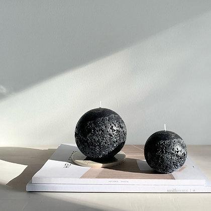 SPHERE CANDLE - BLACK - M (7.5CM)