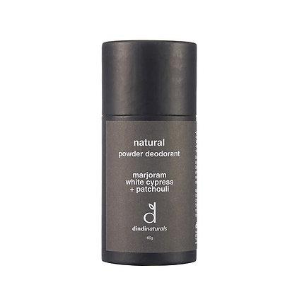 Dindi Powder Deodorant Marjoram, with cypress + patchouli