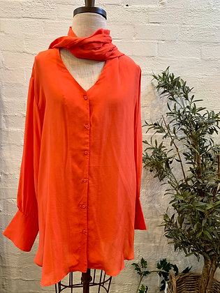 M A Dainty Neon Red Shirt