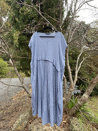 Moyuru Blue/White Stripe Dress
