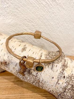 Pesci Che Volano Bronze Bracelet with charms