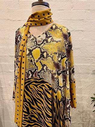 M A Dainty spotted snake dress