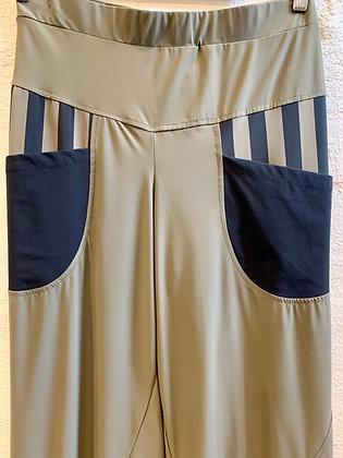 Alembika Stripe Khaki Pants