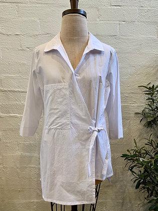 Alembika White Wrap Shirt