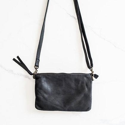 Ju Ju & Co Small Perforated Shoulder Bag - Black