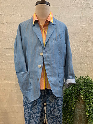 M A Dainty Blue striped jacket