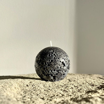 SPHERE CANDLE - BLACK - S (6.5CM)