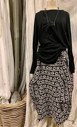 Gershon Bram black & white printed skirt