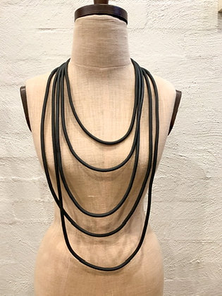 """We Too Are One """"Thali"""" layered Rubber Neckpiece"""