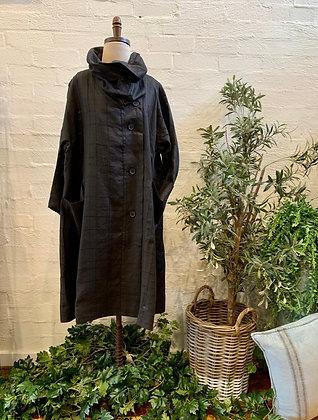 Moyuru stitched linen jacket