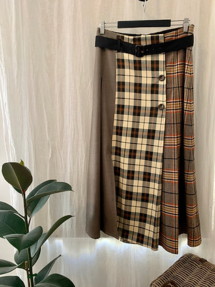 M A Dainty Check Book Skirt