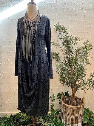 Rundholz Grey Print Dress