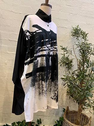 Moyuru Print B/W Shirt