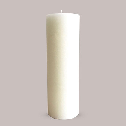 TEXTURED CANDLE - WARM WHITE - L (10X30 CM)