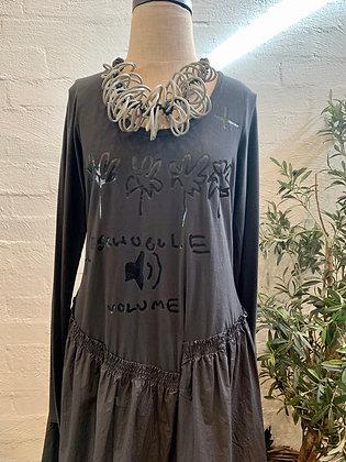Rundholz Dark Grey Print dress