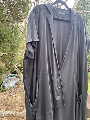 Moyuru Oversized Black Vest
