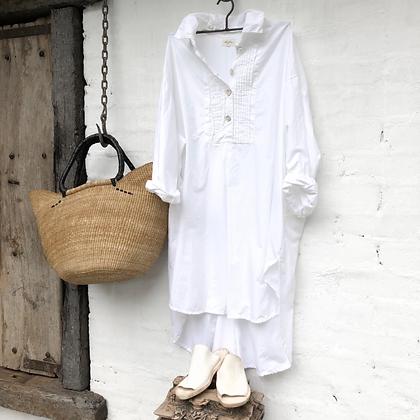 Meg By Design Tuxedo Shirt Dress - Short