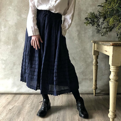 Manteau Noir Meadow Linen Skirt