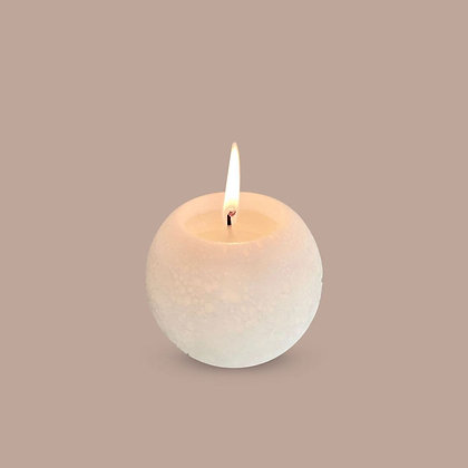 SPHERE CANDLE - WARM WHITE - L (10CM)