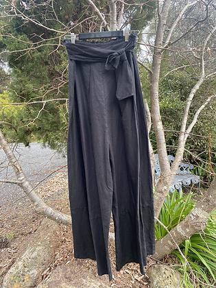 Banana Blue Wide Full Length Linen Trouser
