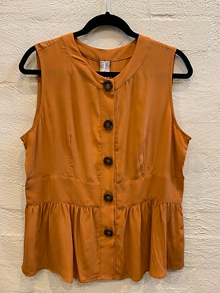 M A Dainty orange silk top