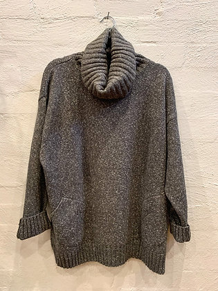 Roam grey turtleneck jumper