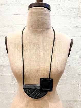 Maria Bajovska half moon & square pendant necklace