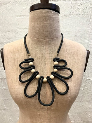"We Too Are One ""Oliviana"" Rubber Loop Necklace"