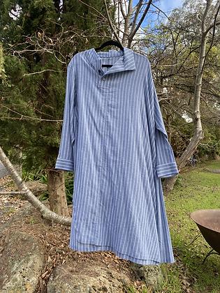 Moyuru Stripe Shirt Dress