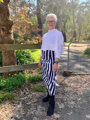 Rundholz Black Stripe Pencil Skirt