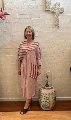 M A Dainty pink striped dress