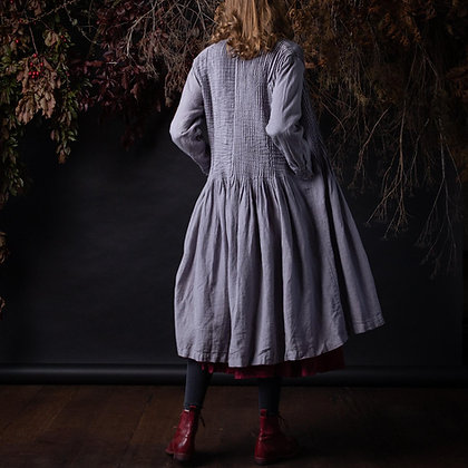 Manteau Noir Flora Pin tuck Coat Dress