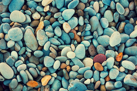 Natural abstract vintage colorful pebble