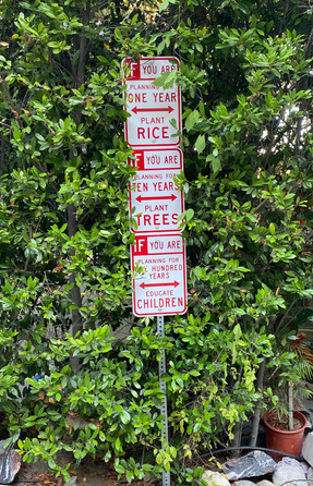 """""""The Word On The Street"""" --Three Signs Hollywood Sculpture Garden"""