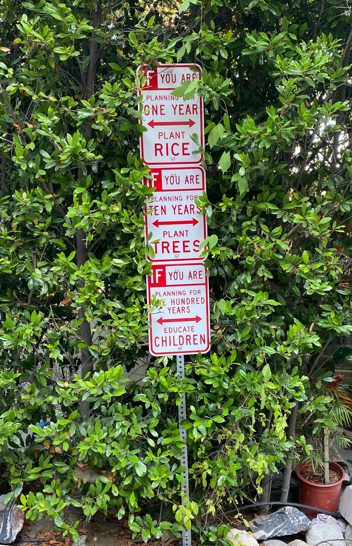 """The Word On The Street"" --Three Signs Hollywood Sculpture Garden"