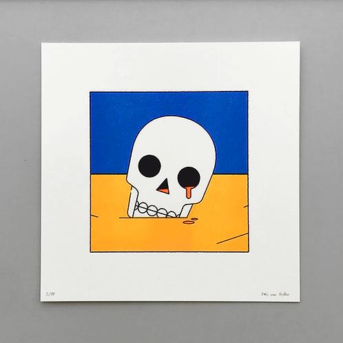 Skull Riso Print