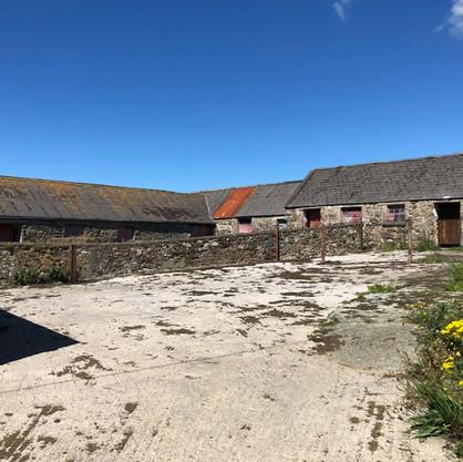 Central farmyard at Trecadwgan Farm