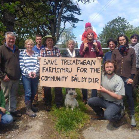 Save Trecadwgan Farm initiative starting their public work