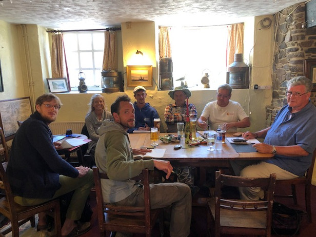 Action Group meeting in the George pub, Solva