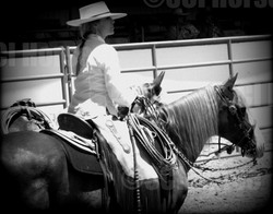 Santa_Cruz_Island_Horse_Prancer_and_Laura_Fullilove_at_the_2015_Early_Californio