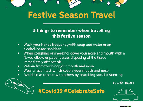 While travelling this festive season. Remember to keep these 5 things in mind.