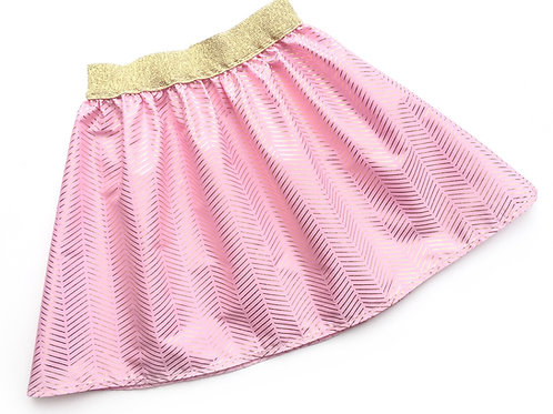 Pink & Gold Chevron Skirt