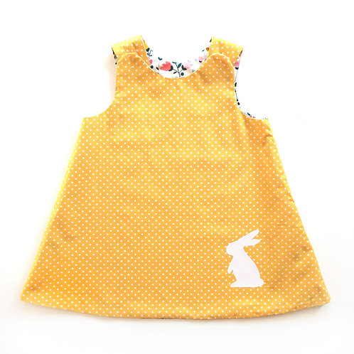 Reversible Bunny Pinafore Dress