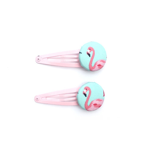 Flamingo hair slides
