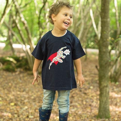 Appliquéd Superman T-shirt