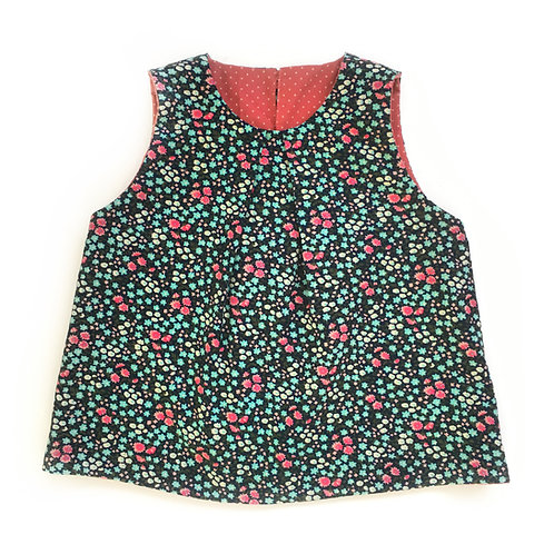 Reversible Ditsy Print Swing Top